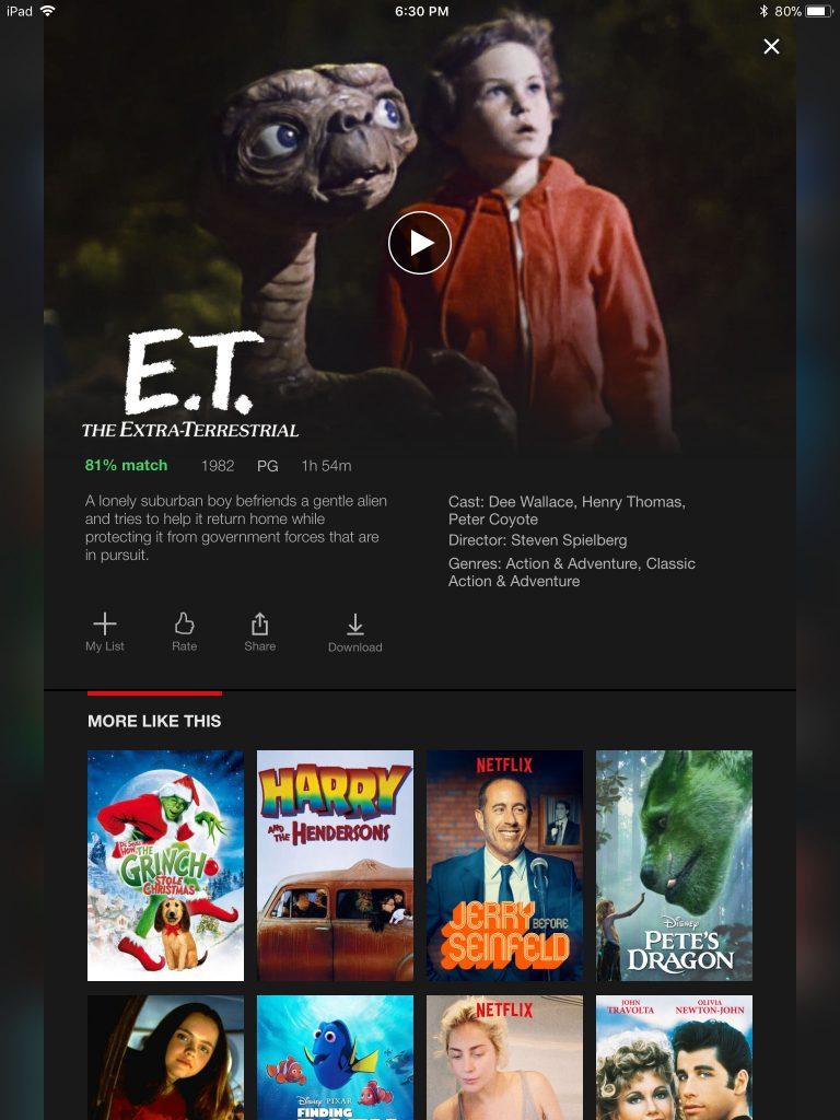 E.T. netflix
