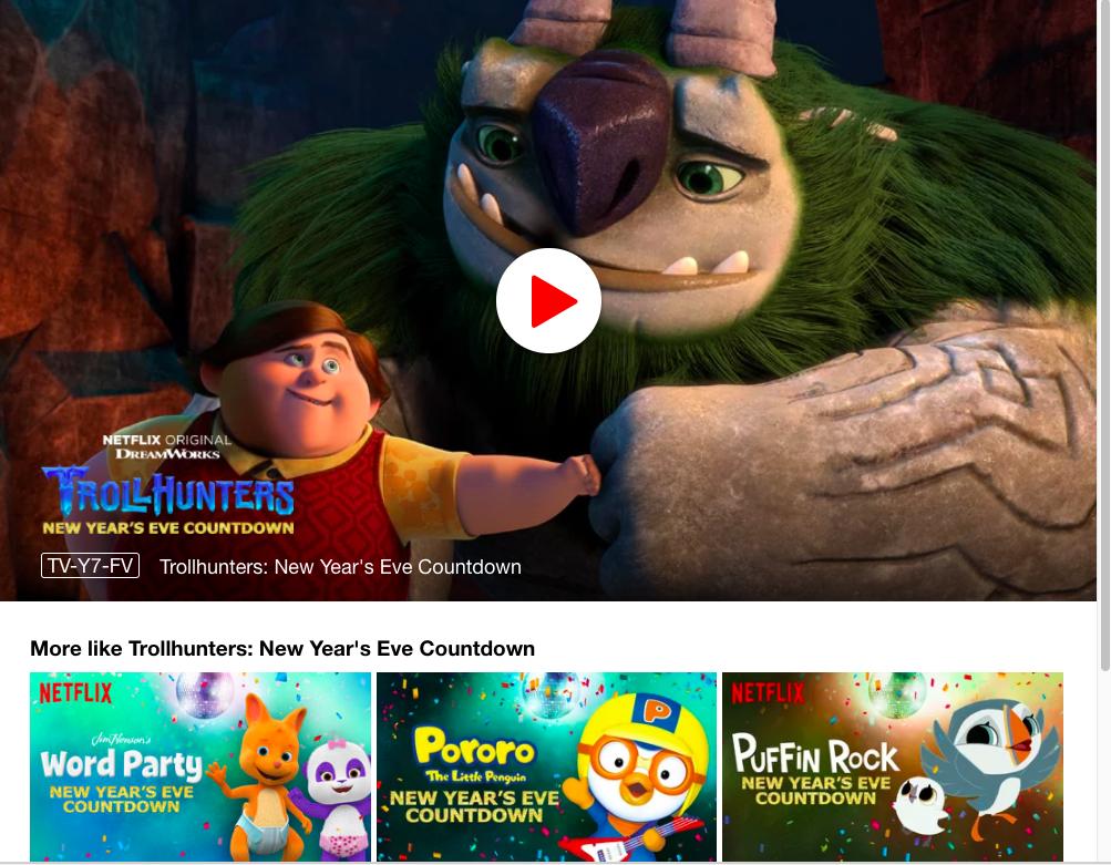 New Year's Countdown Netflix