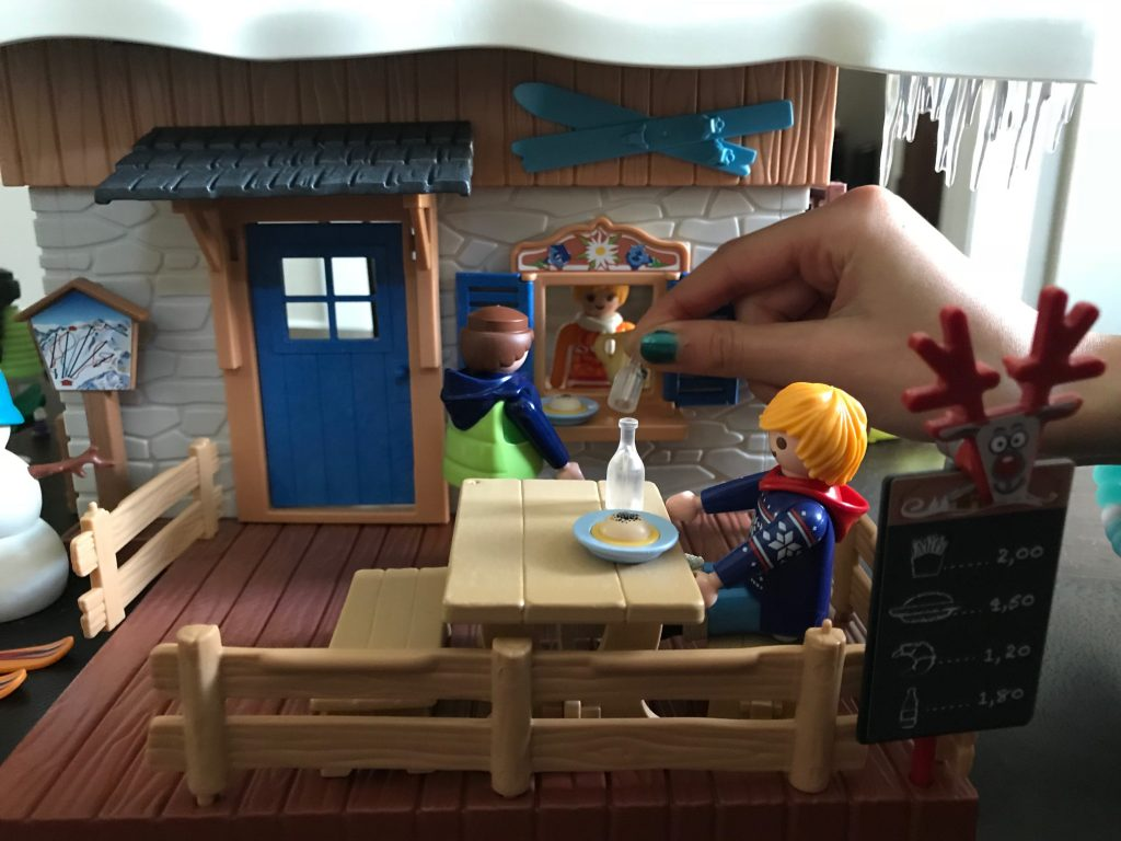 Playmobil ski lodge exterior