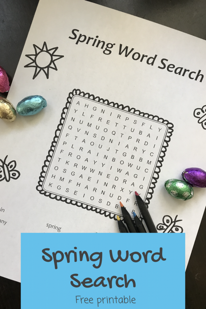 Spring WordSearch printable