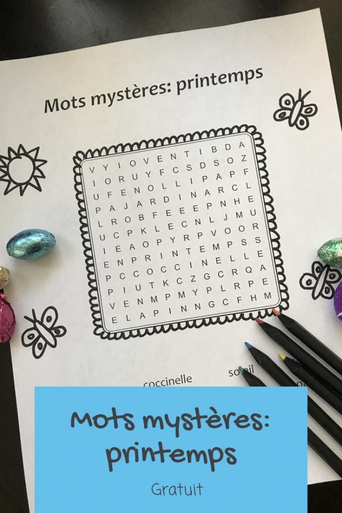 Gratuit mots mysteres francais