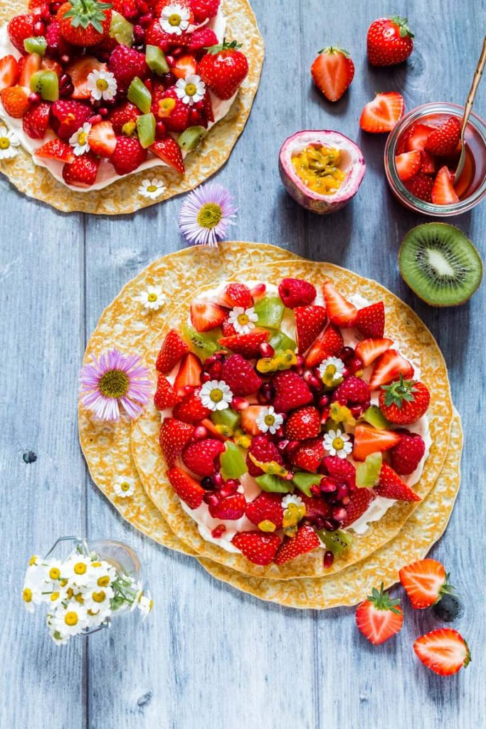 Fruit Pancake Pizza