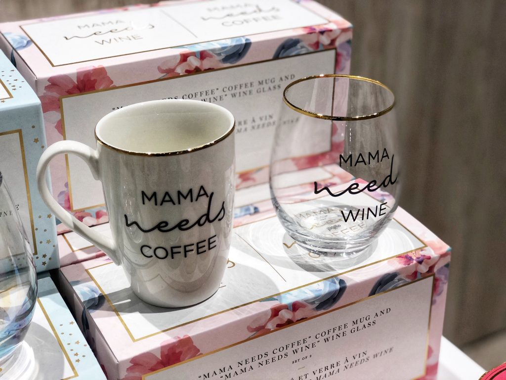 Mama Needs Wine set from Indigo