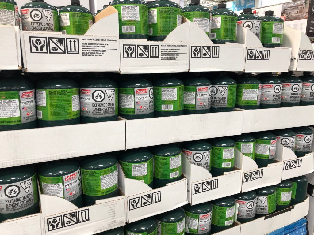 Propane canisters at Costco