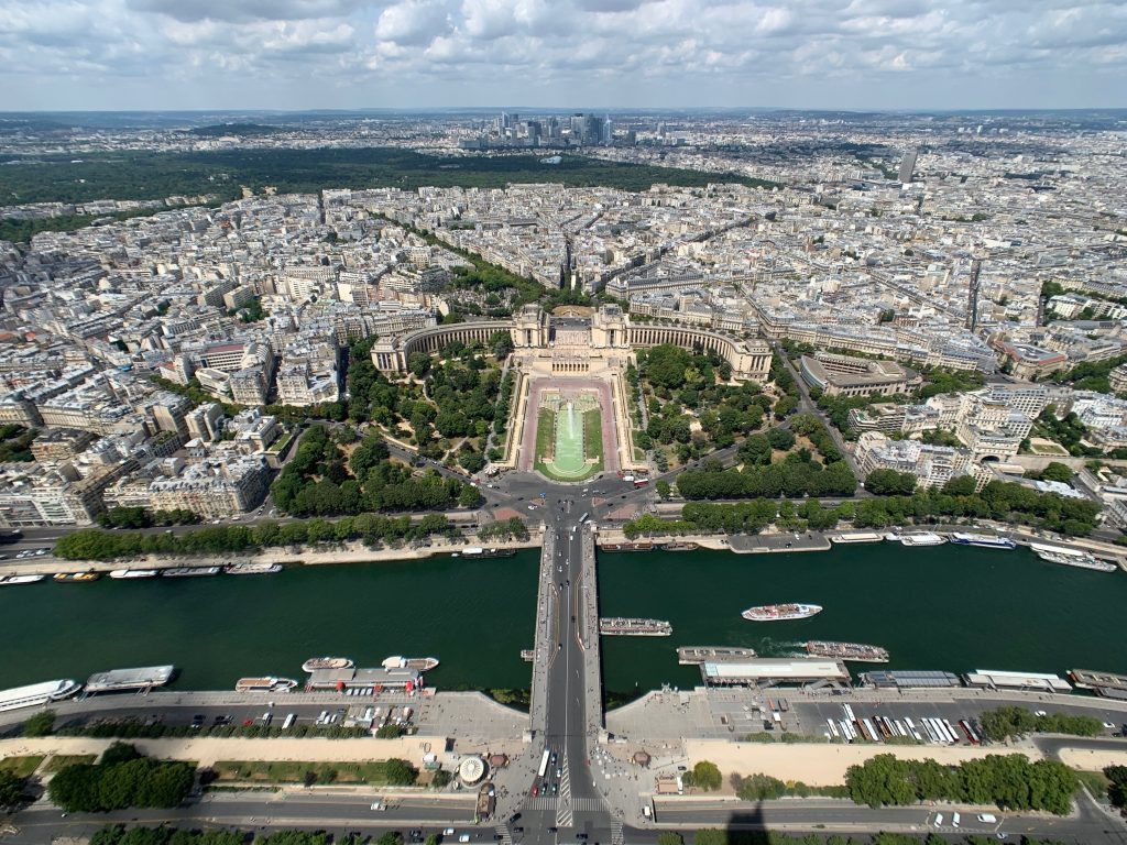 views of Paris from Eiffel Tower