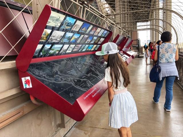 Eiffel Tower educational displays