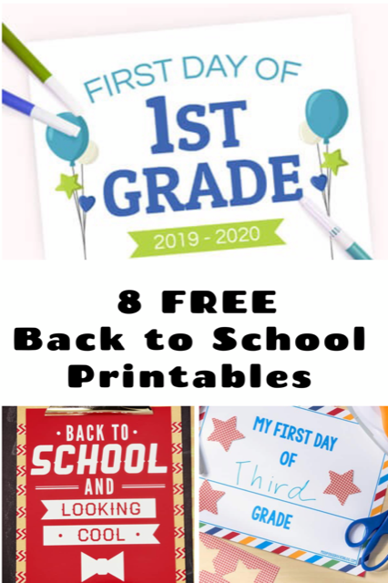 8 Back to School Printables