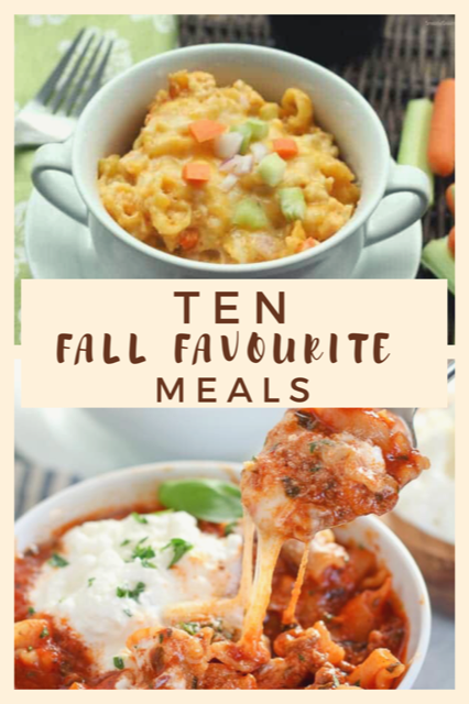 10 meals perfect for fall.