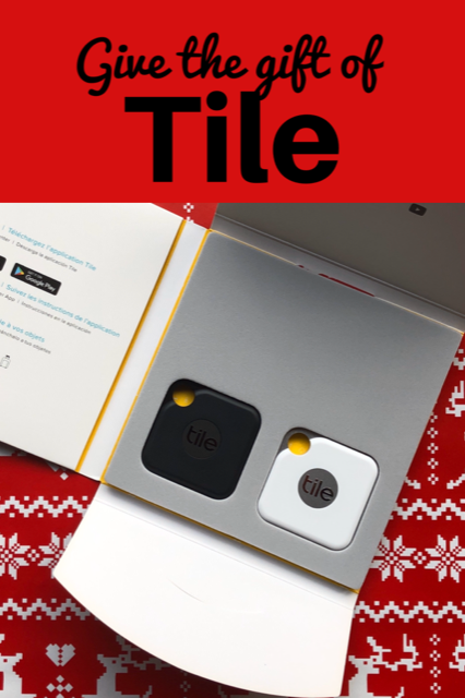 Give the gift of Tile! This high-performance finder is the perfect gift for anyone on your list. #TileIt #GiftGuide