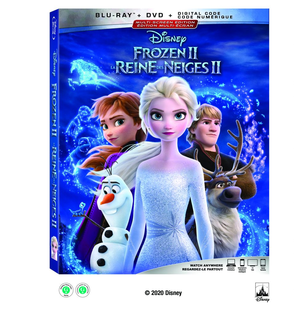 Frozen 2 on DVD and Blu-Ray