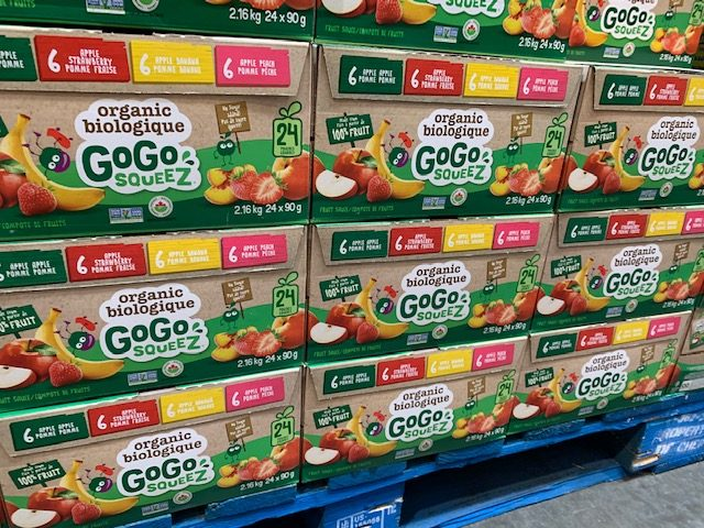 GoGoSqueez at Costco