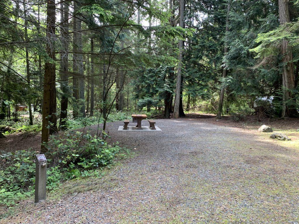 BC Provincial park campsite