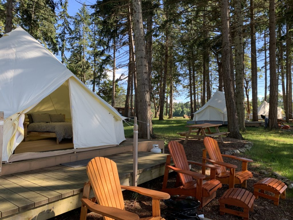 glamping at fossil beach farm