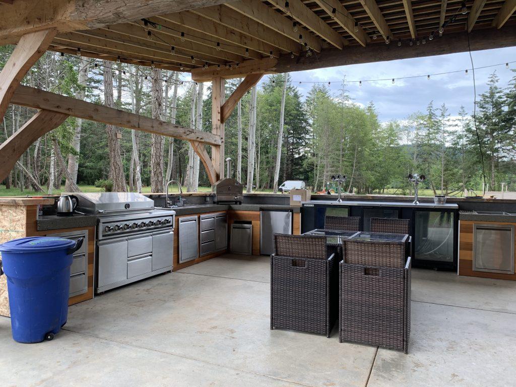 kitchen at Fossil Beach Farm