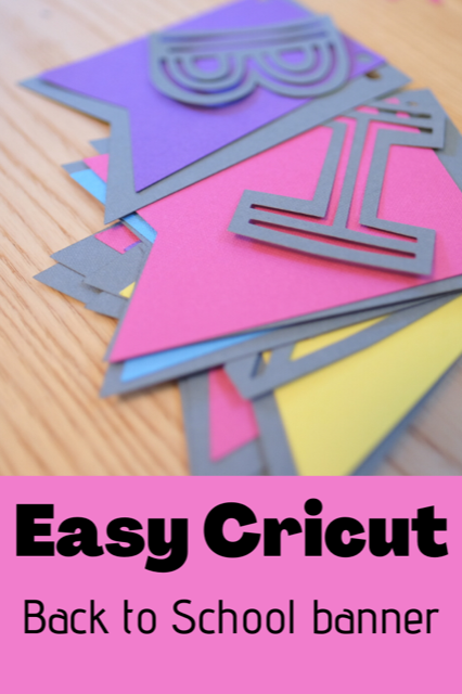 Easy Cricut Back to School banner