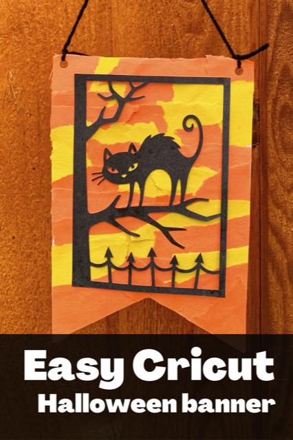 Easy Cricut Halloween banner