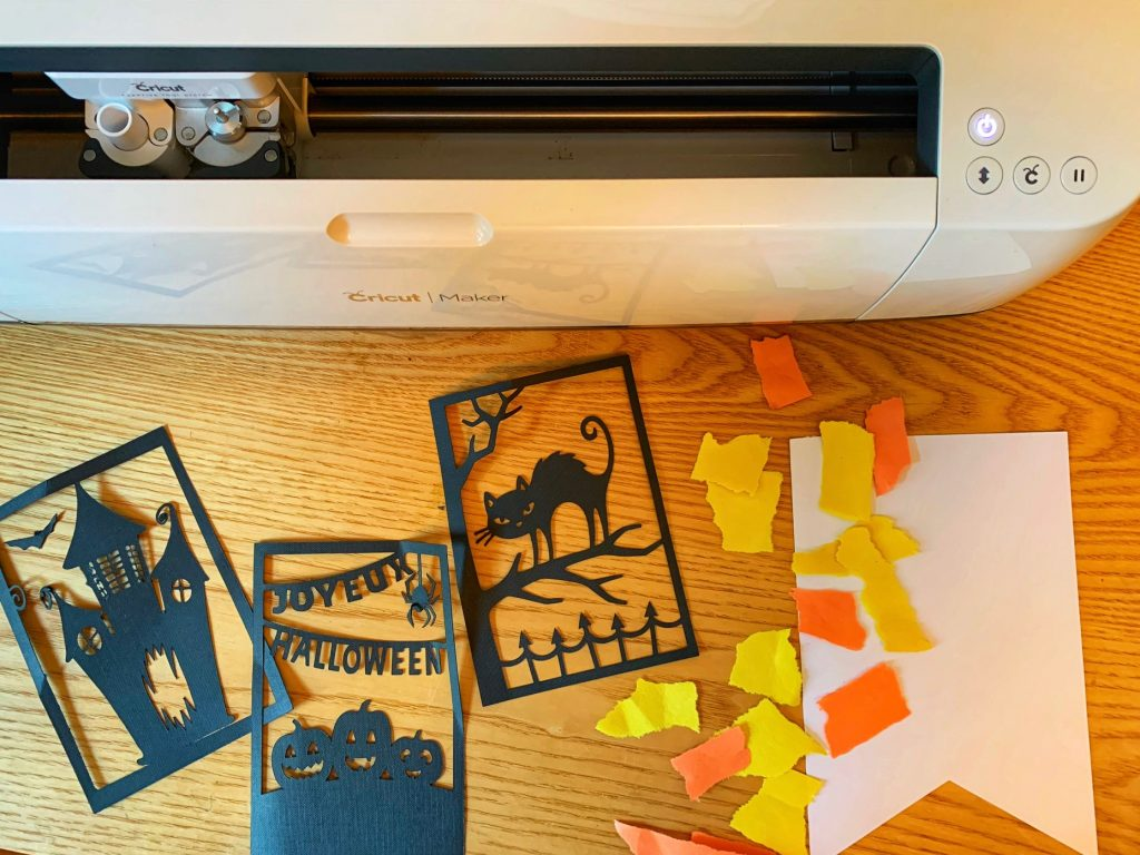Easy Halloween banner with Cricut