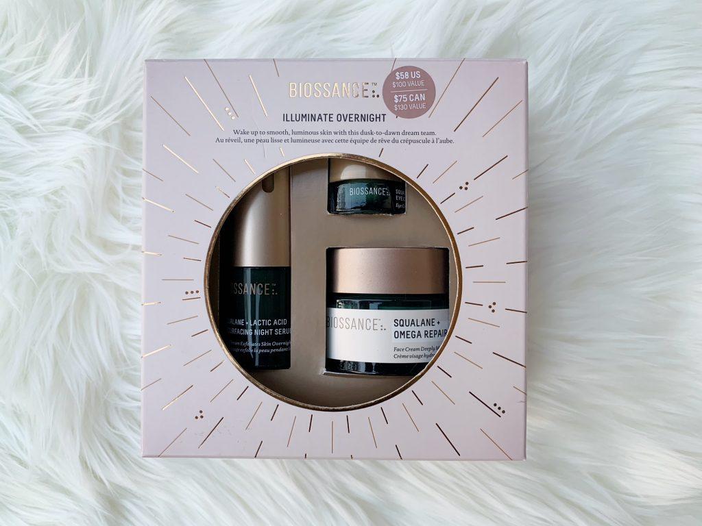 Biossance Illuminate Overnight gift set