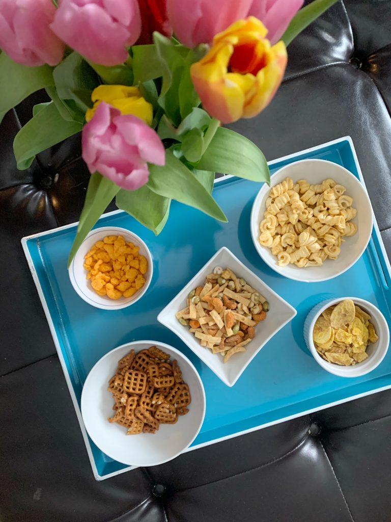 Naturebox snacks on tray