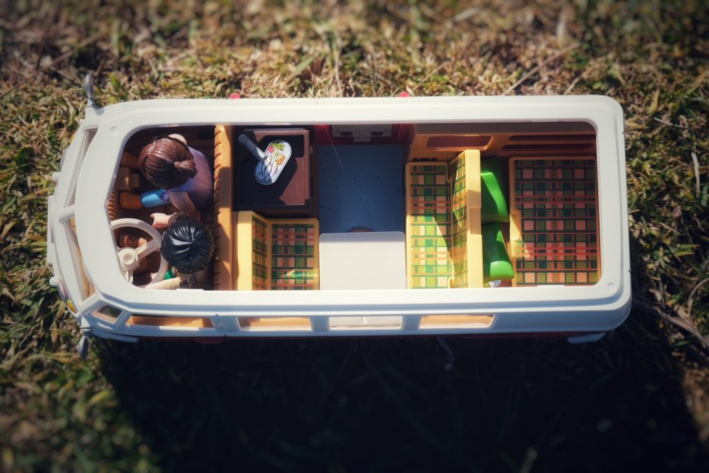 Inside Volkswagen Camping Bus by Playmobil