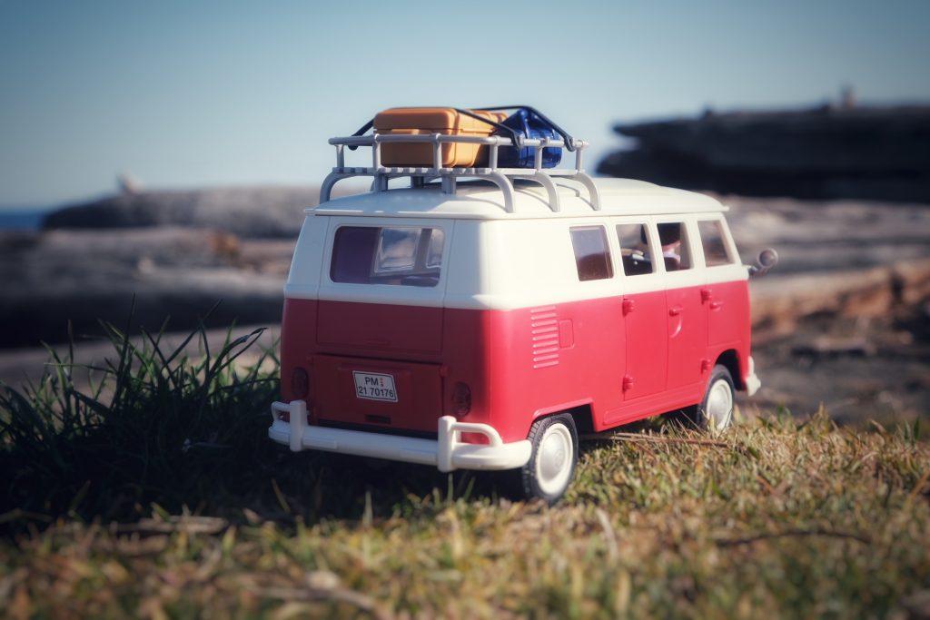 Red Volkswagen T1 Camper Bus