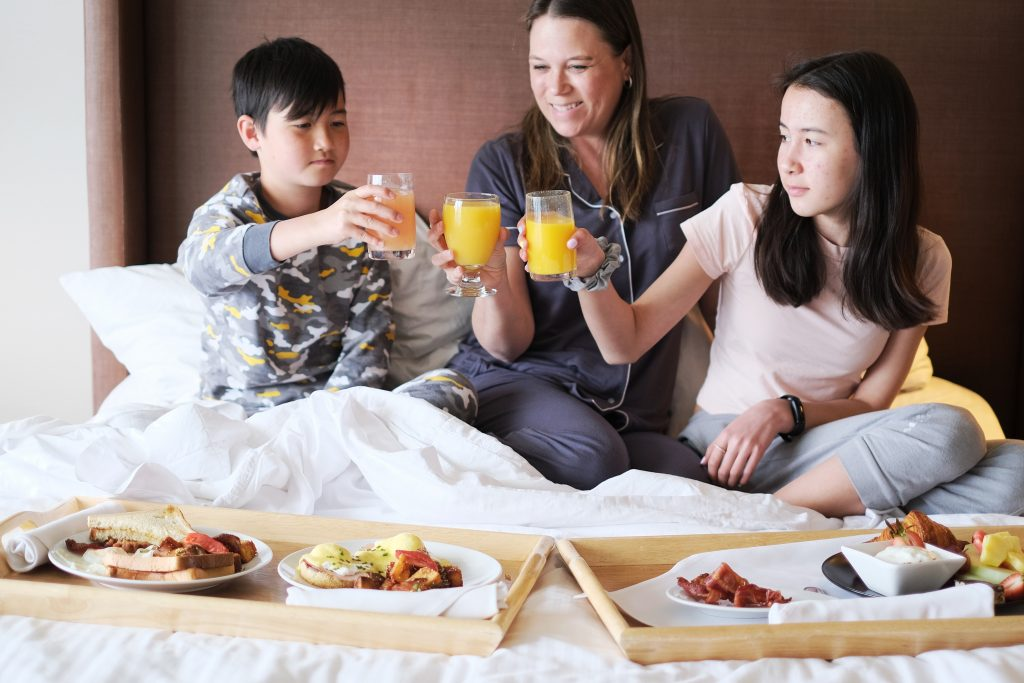 Breakfast in bed Inn at Laurel Point