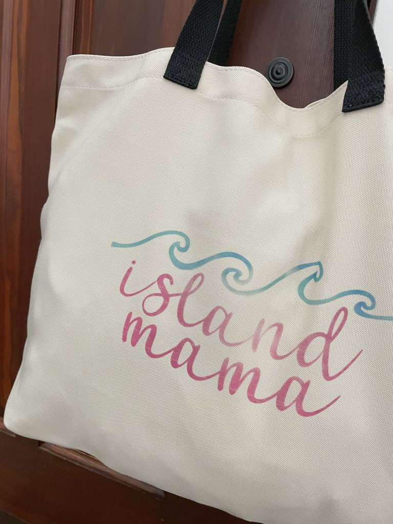 Cricut Island Mama Tote